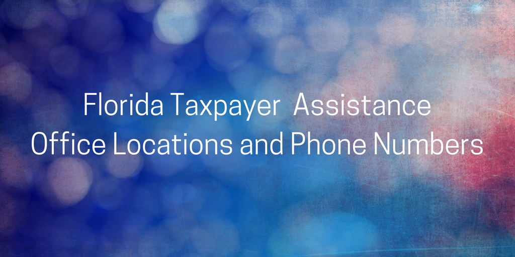 Florida Taxpayer Assistance Locations Phone Number StoptheBull
