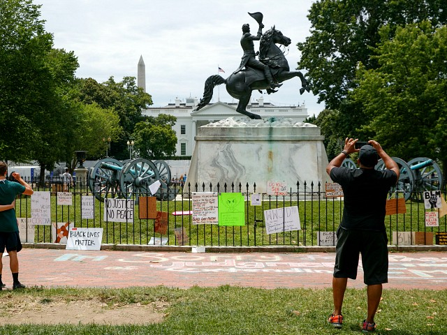 'Beware!' Trump Warns Mob Attacking Andrew Jackson Statue by White House