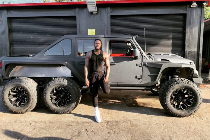 Aroldis Chapman's 6-wheel, Kevlar-covered Jeep is 'an absolute monster' truck