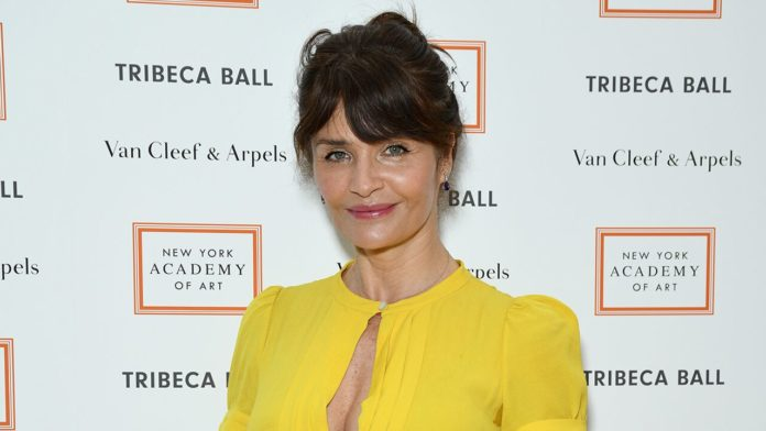 Helena Christensen shows off her body in daring swimsuit at 51