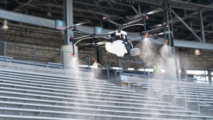 Election 2020  Donald Trump  President Trump  Conservative News  RNC Texas stadiums helping fight coronavirus with disinfectant-spraying drones
