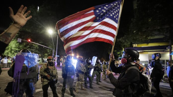 Election 2020  Donald Trump  President Trump  Conservative News  RNC Oregon police in Portland try to quell nightly protests, riots