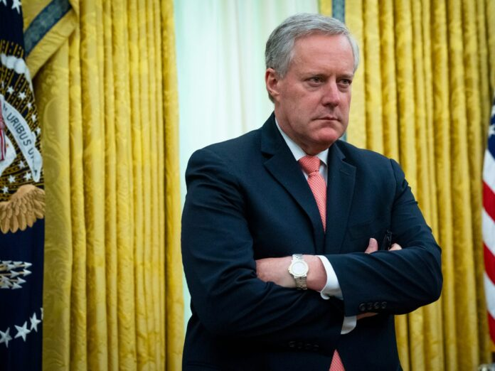 White House chief of staff Mark Meadows reportedly tested positive for COVID-19