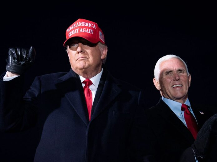 It appears the bromance is over between Donald Trump and Mike Pence