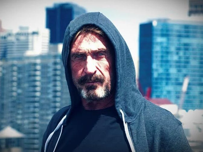 A brief history of John McAfee's run-ins with the authorities
