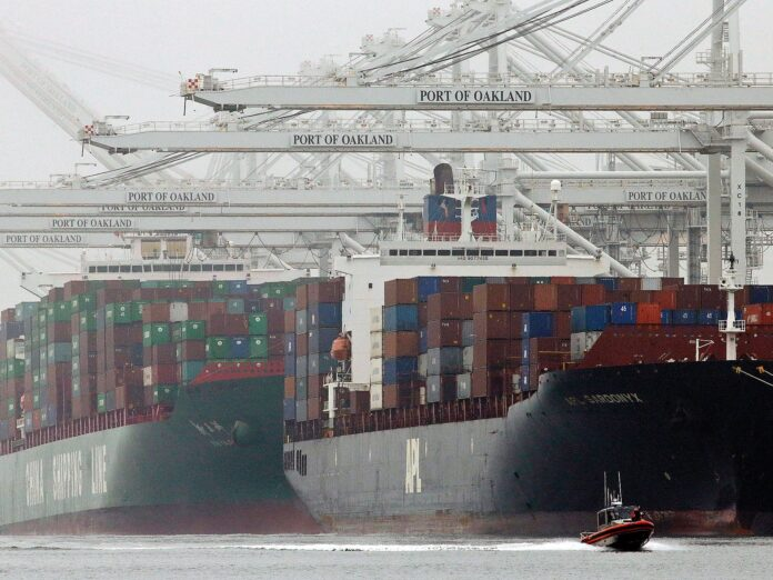 California ports aren't the only ones facing record backlogs of cargo ships